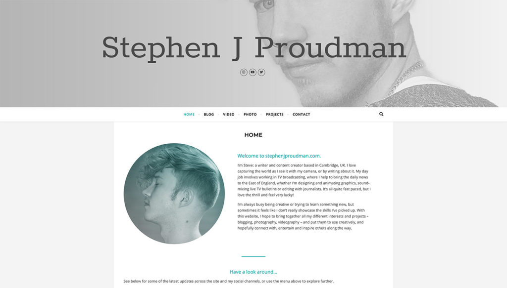 Stephen J Proudman - Welcome to my New Blog